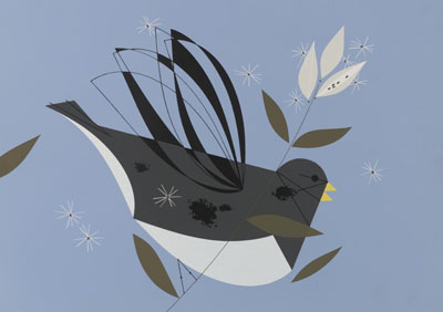 Junco by Charley Harper