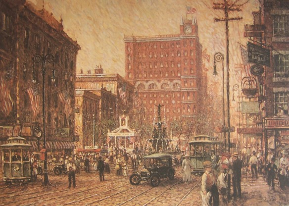 Liberty Bonds -- Fountain Square, 1918 by Frank McElwain