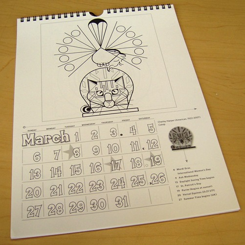Charley Harper 2011 Coloring Calendar