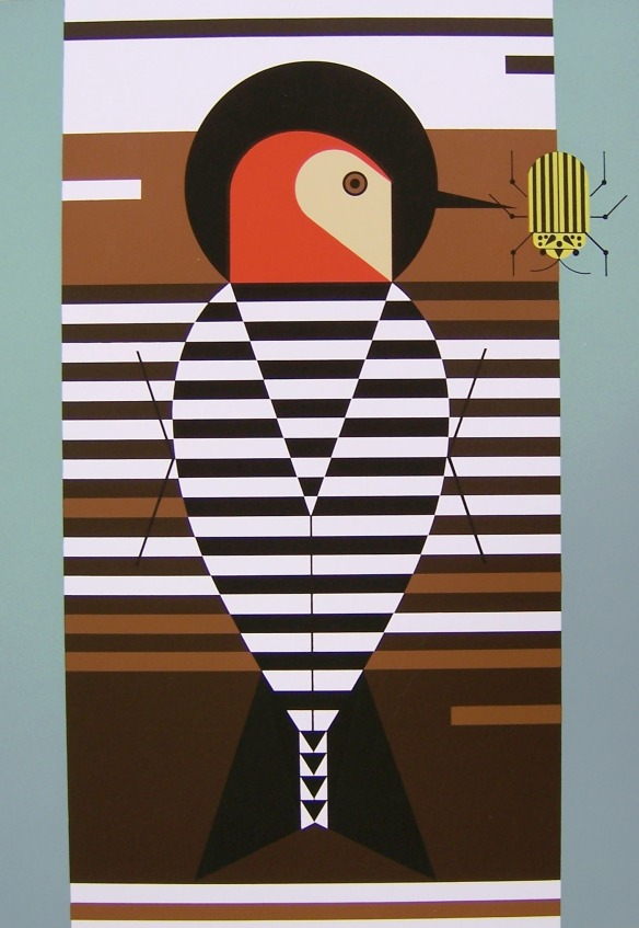 Baffling Belly by Charley Harper
