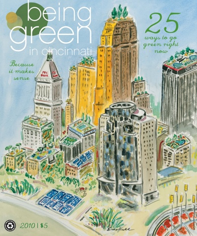 Beverly Erschell on the Cover of Being Green Magazine 2010