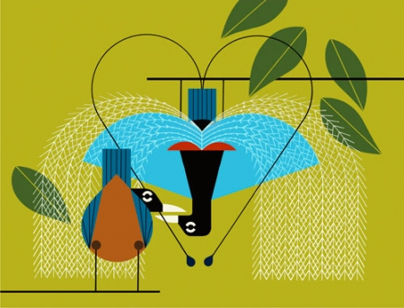 Provocative Plumage by Charley Harper