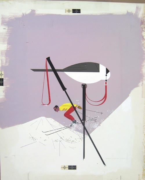 Skier by Charley Harper