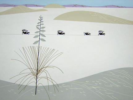White Sands, New Mexico by charley Harper