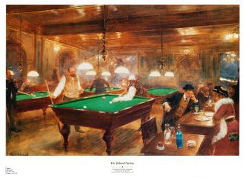 The Billiard Parlor by Jean Beraud
