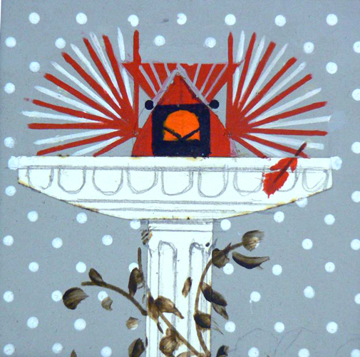 study for Brrrrrdbath by Charley Harper