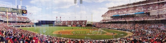 First Pitch, Great American Ballpark by Rob Arra