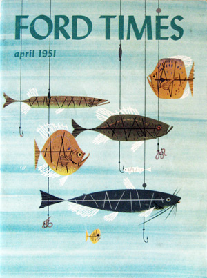 Ford Times Magazine cover by Charley Harper
