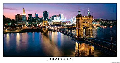 Night Skyline Panorama by J. Miles Wolf