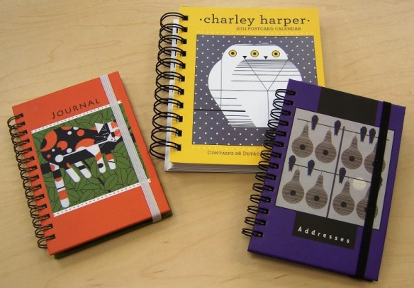 Charley Harper journal, postcard calendar and address book