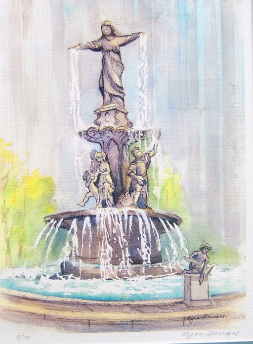 Fountain Square by Myra Baumes