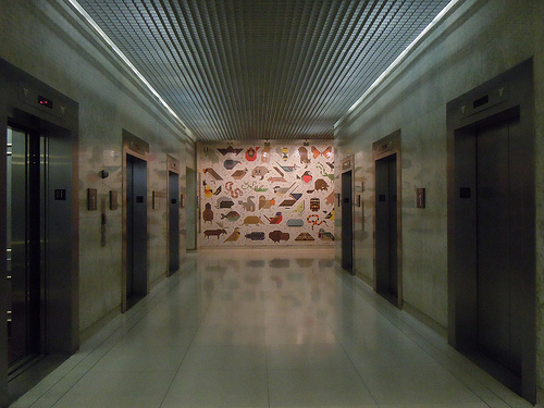 Charley Harper mosaic mural