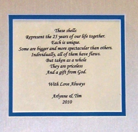 25th wedding anniversary shadow box