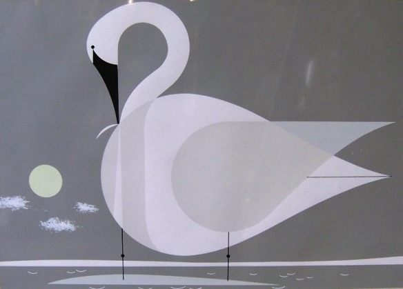 Trumpeter Swan by Charley Harper