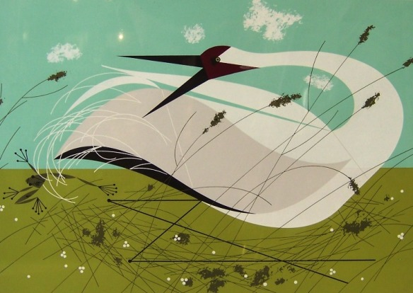 Whooping Crane by Charley Harper