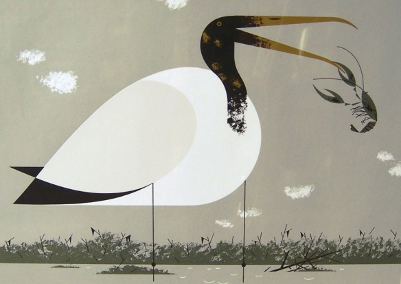 Wood Ibis by Charley Harper