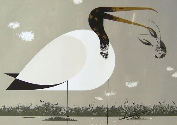 Wood Ibis by Charley Harper