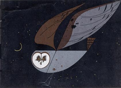 Barn Owl by Charley Harper