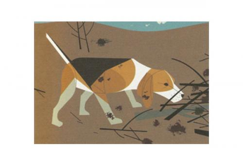 Beagle by Charley Harper