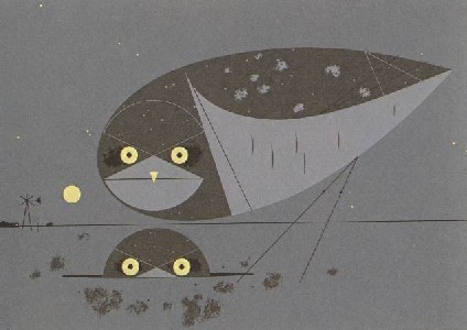 Burrowing Owl by Charley Harper
