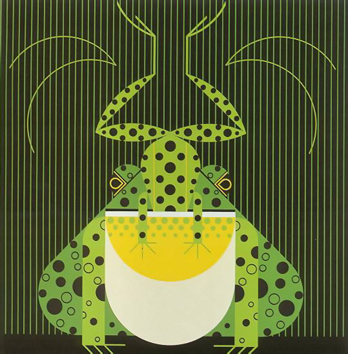 Frog Eat Frog by Charley Harper