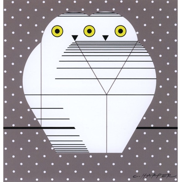 Twowls by Charley Harper