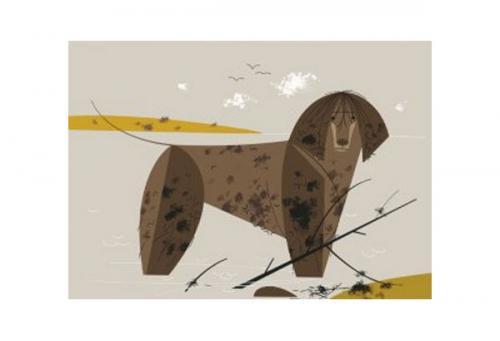 Portuguese Waterdog by Charley Harper