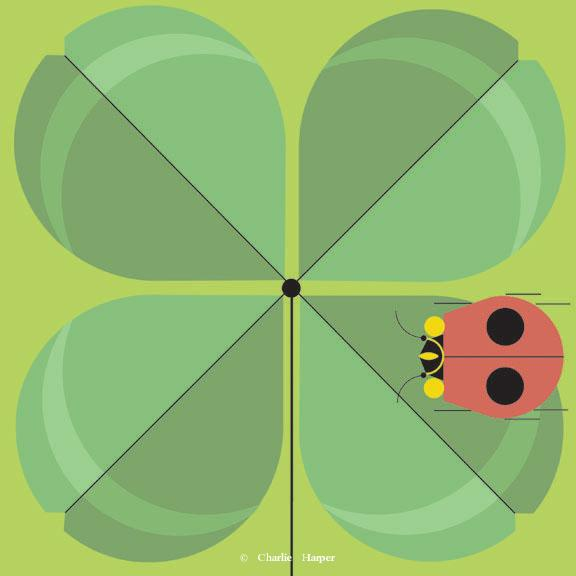Double Lucky by Charley Harper