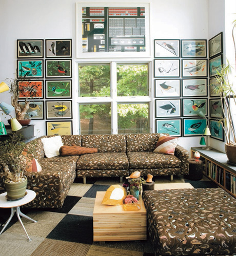 Charley Harper Artwork in Todd Oldham's House