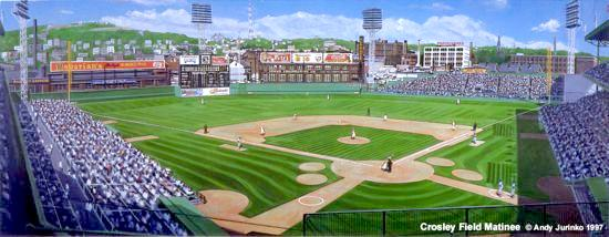 Crosley Field Matinee by Andy Jurinko