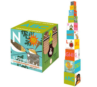 nesting blocks by Charley Harper