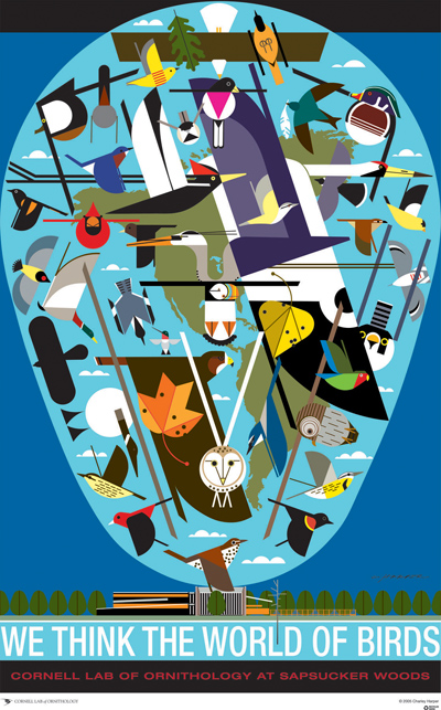 We Think The World Of Birds poster by Charley Harper