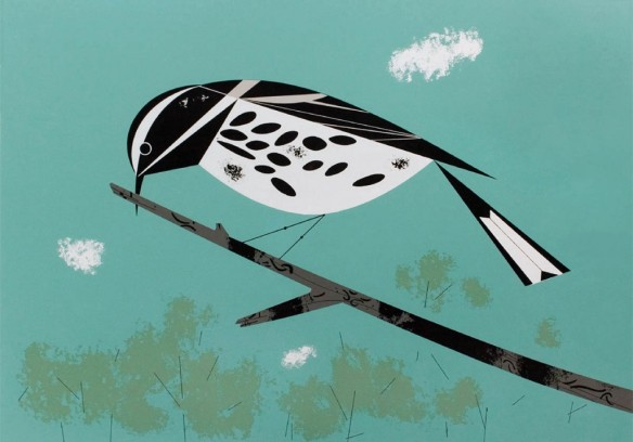 Black and White Warbler by Charley Harper