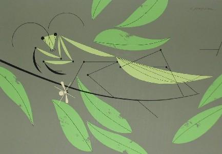 Praying Mantis by Charley Harper