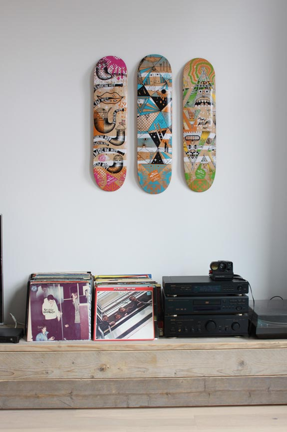 skateboard deck display idea