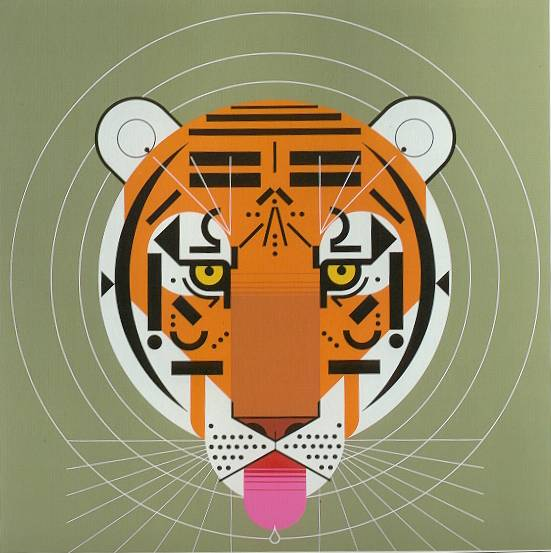 Cool Carnivore by Charley Harper