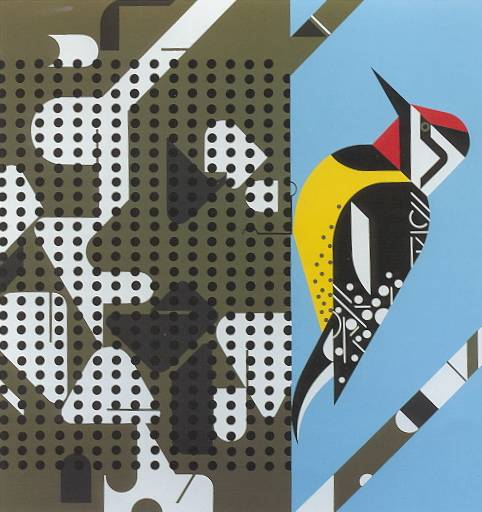 Savoring Sycamore (Yellow Bellied Sapsucker) by Charley Harper