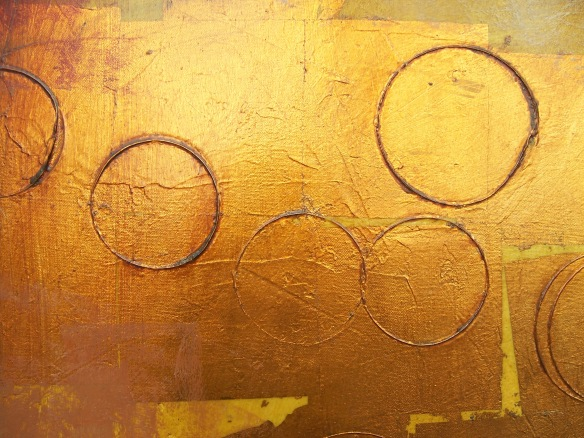 Detail of Mixed Media Painting-Ursula J. Brenner