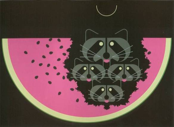 Watermelon Moon by Charley Harper