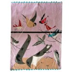 Charley Harper Feeding Station Dishtowel