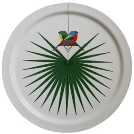 Charley Harper Flamboyant Feathers Plate