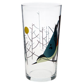 Charley Harper WB Nuthatch Glass