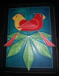 New Charley Harper Cardinals Consorting tile