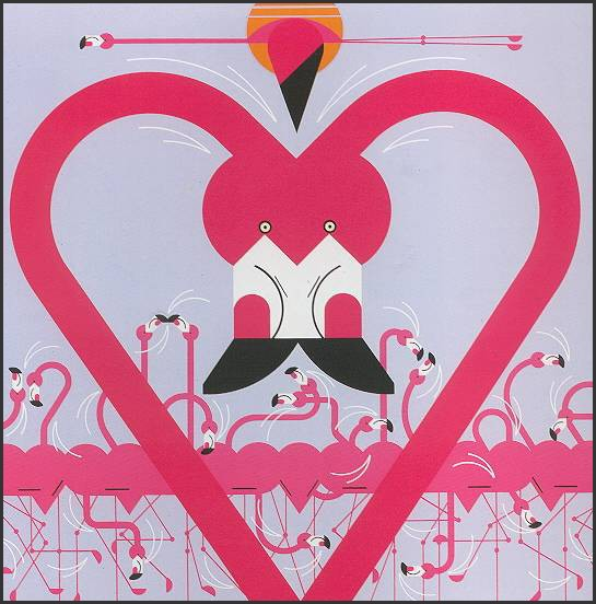 Flamingo a Go Go by Charley Harper