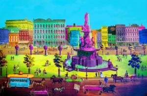 """Fountain Square 1866"" By Andrew Van Sickle"